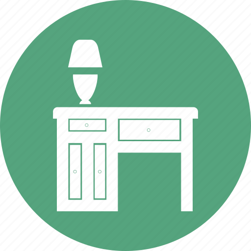 home, lamp, living, room, table icon