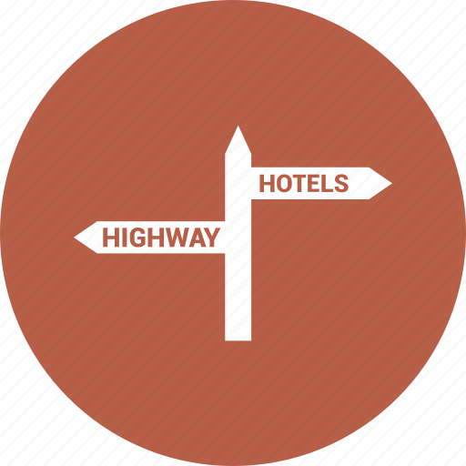 road, sign icon