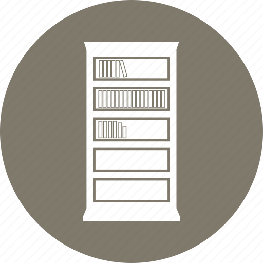 book, bookcase, bookshelf, furniture, library, study icon