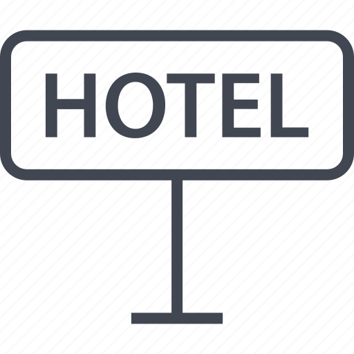 hotel, in, sign, stay icon