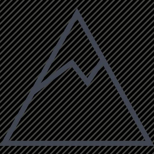 coldice, ice, mountain, peak, snow, water icon
