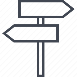 road, sign, street, two, way icon