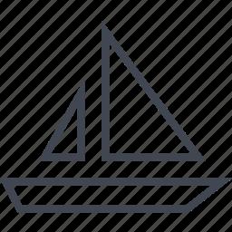 boat, ocean, sail, sailing, travel, water icon