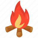 adventure, bonfire, campfire, camping cooking, combustion, firepit icon