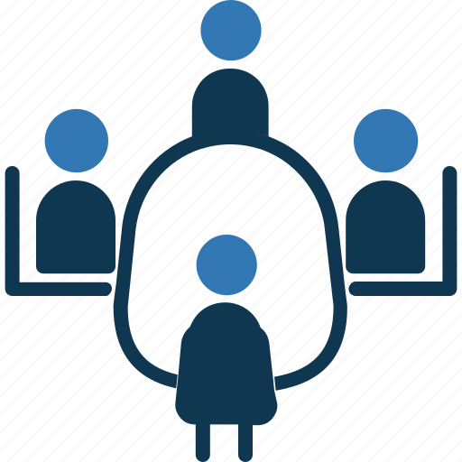 corporate meeting, meeting, office meeting, table talk icon
