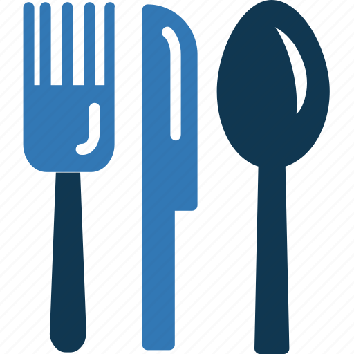 flatware, fork, knife, utensil icon