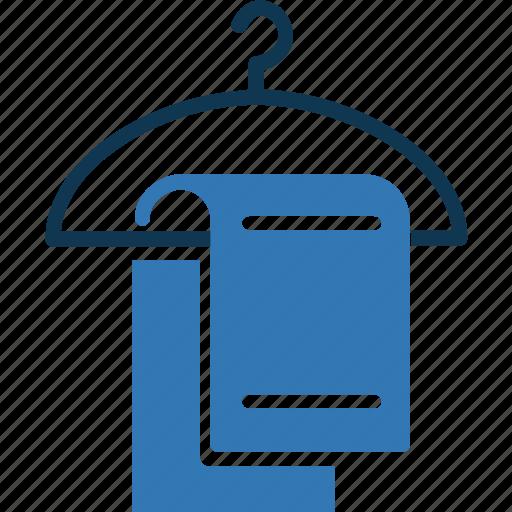 bathing, hanged towel, towel, towel hanger icon
