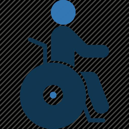 disability, disabled, handicap, paraplegic icon