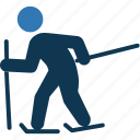 ice skating, ice skiing, ski, skier, snow ski icon