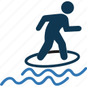 wakeboarding, water sports, water surfing, wave riding icon