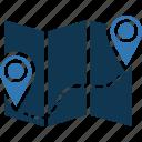 location marker, map locator, map pin, location pointer