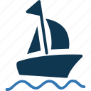 boat, cruise, sailboat, ship, yacht icon