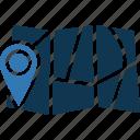 location marker, map locator, map pin icon