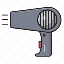 makeup, blower, hot, air, dryer icon