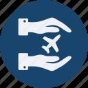 aeroplane, and, tourism, travel icon