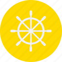 and, steering, tourism, travel, wheel icon