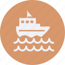 and, tourism, travel, yacht icon