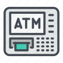 atm, bank, cash, cashout, money icon