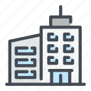 apartment, building, hotel, room icon