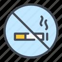 ash, cigarette, no, smoke, smoking icon