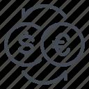 currency, dollar, euro, exchange, money, transfer