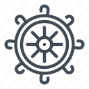 boat, cruise, helm, steering, wheel icon