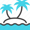 island, leisure, palm, paradise, tourism, travel, vacation icon