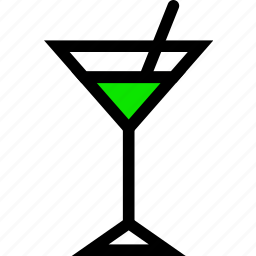 .svg, cocktail, drink, glass, green, line, minimal icon