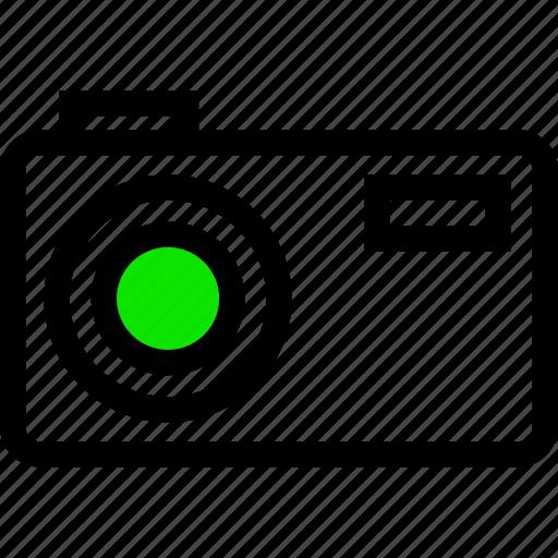 .svg, camera, green, line, minimal, photo, picture icon