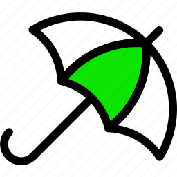 .svg, green, line, minimal, rain, umbrella, weather icon