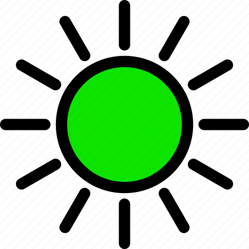 .svg, green, heat, line, minimal, summer, sun icon