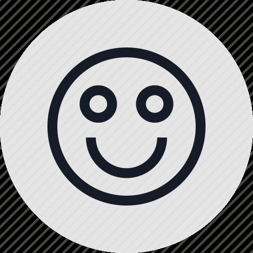 emotion, face, happy icon