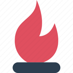 away, burn, fireplace, hot, outdoors, travel, vacation icon