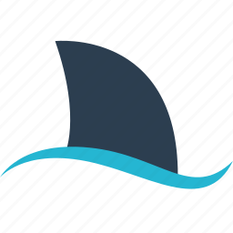 attack, away, ocean, outdoors, shark, travel, vacation icon