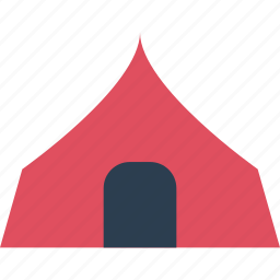 away, in, outdoors, sleeping, tent, travel, vacation icon