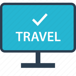 away, booking, outdoors, travel, vacation, website icon