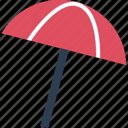 away, beach, outdoors, shade, travel, umbrella, vacation icon