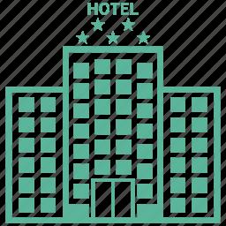 hotel, travel, vacation icon