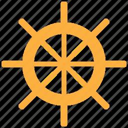 boat, ship, ship wheel, wheel icon