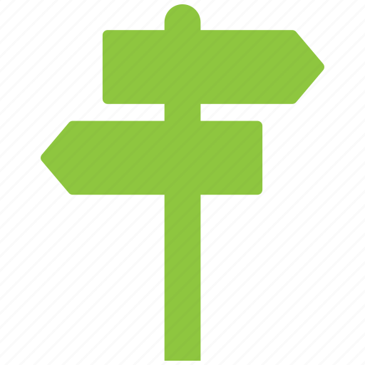 direction, indication sign, road sign icon
