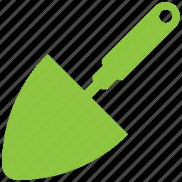 garden, shovel, tool, triangle icon