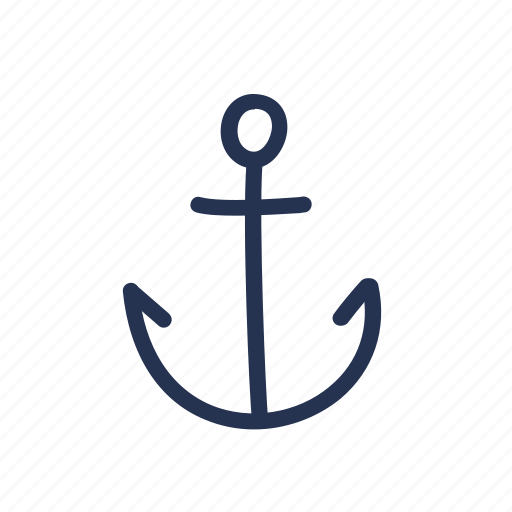 anchor, doodle, hand drawn icon