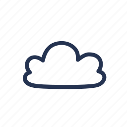 cloud, hand drawn, sky, weather icon