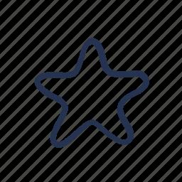 cartoon, doodle, star, starfish icon