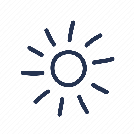 doodle, shine, sky, sun, sunshine, weather icon