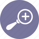 magnifier, pluse, search, zoom icon