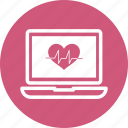 computer, heart, laptop, technology icon