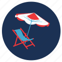 beach, picnic, rest, travel, vacation icon