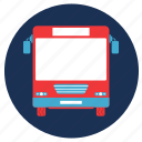 and, bus, travel, vacation icon