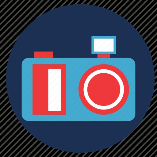 and, camera, travel, vacation icon